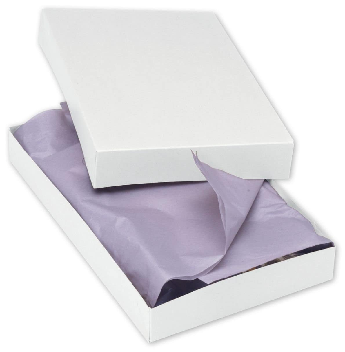 10 Pack 2 Piece Apparel Gift Boxes With Lids And Silver