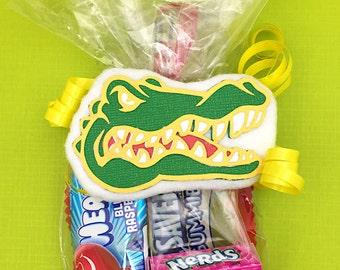Safari Animals Bags - Zoo Party Bags - Zoo Favor Bags - Jungle Safari Bags - Jungle Animals Bags - Jungle Safari Favor Bags - Alligator Tag