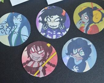 Homestuck   Porrim / Kurloz / Damara / Meenah / Jade   Stickers