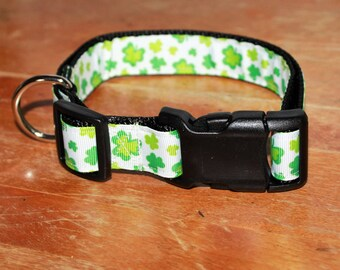 ST PATRICK - SHAMROCK Plastic Buckle Collars - With Names