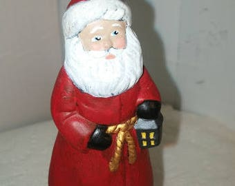 Victorian Santa Ornament with Lantern