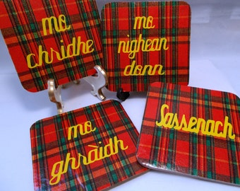 Valentines/Mother's Day Gift Scottish Outlander Phrase Coasters
