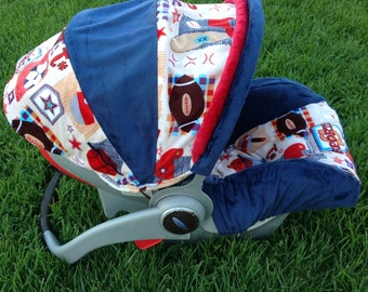 Infant Car Seat Cover- All Sports/Navy