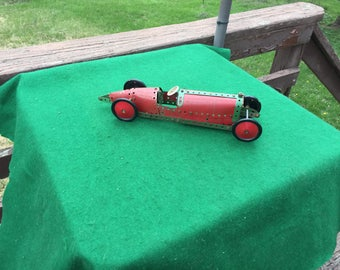 Old Antique Meccano Erector Roadster Toy Car
