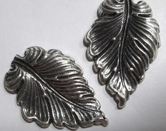 2 Deep Stamped Metal Leaves