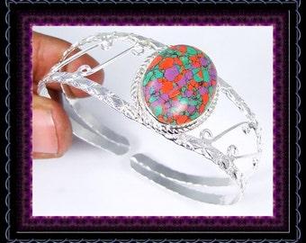 Mosaic Agate Bangle