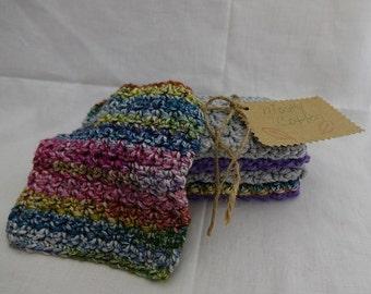 Crocheted Baby Washcloths Soft Cotton Baby Washcloths, Baby Shower Gift, Gifts under 20