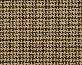 Beige Classic Houndstooth Jacquard Upholstery Fabric By The Yard | Pattern # E857