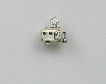 Sterling Silver 3-D Travel Trailer Charm