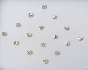 8 Packs- 128 Count Bindi Dots Self adhesive Fake Nose Stud/Ear Stud Small Size Bindi