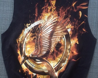 The Hunger Games Mocking Jay Cut and Tied Tee, Small