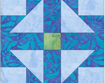 Cross Within Cross 15 Inch Block Paper Template Quilting Block Pattern PDF