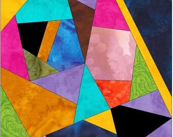 Complex Crazy Patch 20 Paper Foundation Piece Quilting Block Pattern PDF