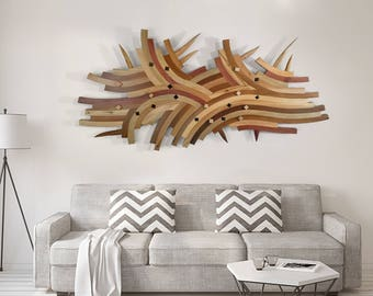 One Of A Kind Artwork, Abstract Art, Architectural Sculpture, Wood Art, Wall Art