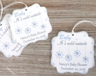 Baby it's cold outside baby shower favor tag, Winter baby shower thank you tag, Baby its cold outside tag, Winter wonderland baby shower tag