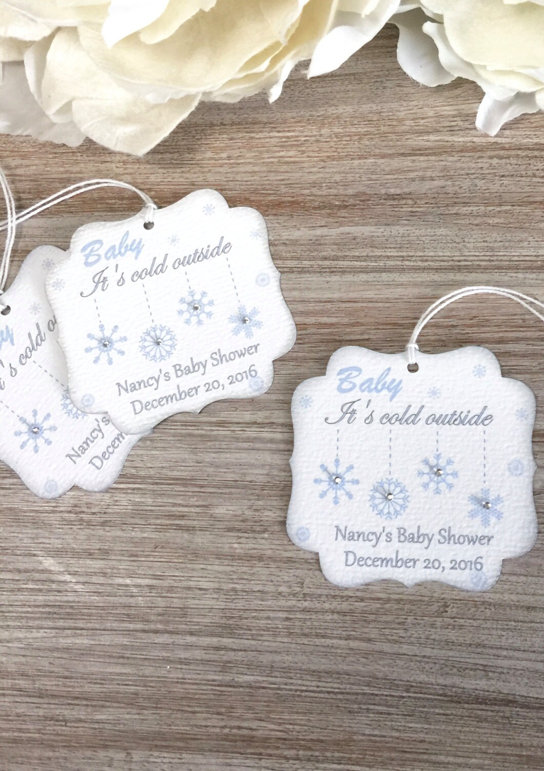 Baby It S Cold Outside Baby Shower Favor Tag Winter Baby