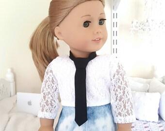 18 inch doll tie