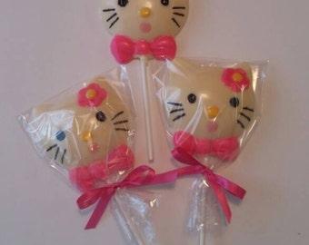 Hello Kitty Chocolate Lollipops