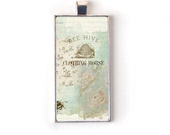 Cottage Chic Pendant Necklace - Boho Jewelry