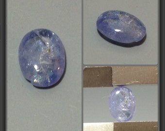 Tanzanite cabochon 7.5x5.7x2.6mm