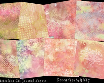 8 Watercolour Art Journal Papers    (8 x 8 inches)  DOWNLOAD