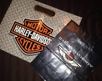 On Sale Two Harley Davidson Motorcycle Shopping Gift Bags