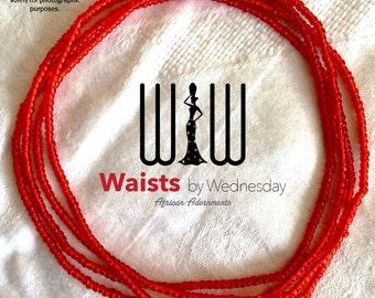 Red African Waist Beads