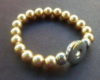 Champagne Pearl Stretch Bracelet