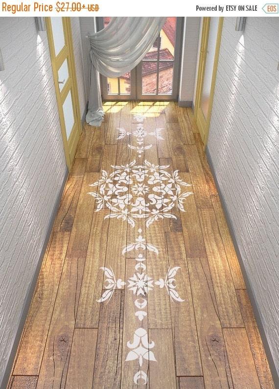 ON SALE Floor Stencil- Symmetric Mandala Stencil - Mandala Stencil
