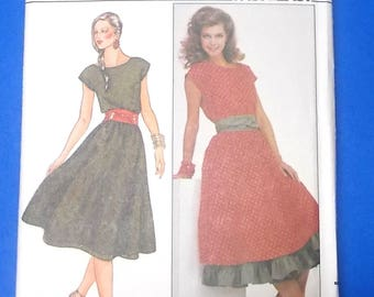 Butterick 4395 sewing pattern 18 20 22 dress petticoat sash retro style vintage uncut factory folded fast & easy Misses printed patterns