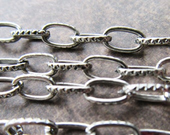 2m of Antique Silver Iron Cross Chain 8 x 5mm Links