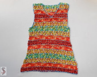 colorful crochet top