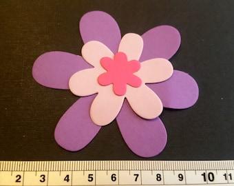 10 cardstock flowers