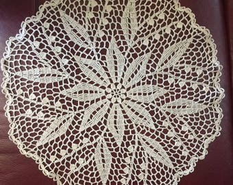 "Doily hand made ""Lilly Of The Valley"""