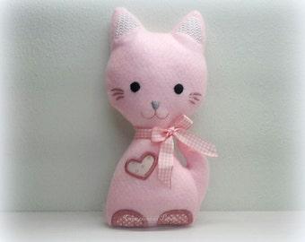 Pink Kitty of soft pink felt