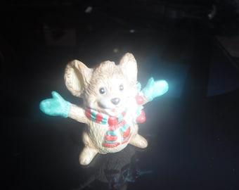 vintage bisque christman mouse