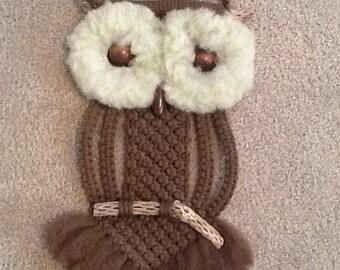 Macrame owl vintage