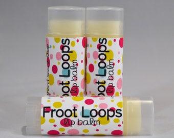 Froot Loops Type Lip Balm, Froot Loops Chapstick, Fruit Loops Lip Balm, Fruit Loops Chapstick, Fruity Lip Balm, Lip Moisturizer