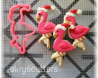 Christmas Flamingo Cookie Cutter
