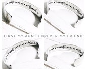 Aunt Gift  Personalized Auntie Gift  Aunt Bracelet Aunty Gift Auntie Gift First my Aunt forever my friend Personalised Bracelet (C152)