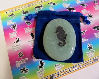 Gemstones, Animals,Seahorse, Totem Spirit Healing, Stones with Animals and Symbols, Medicine Bag, Spirit Totem, Reiki, Chakra, Feng Shui