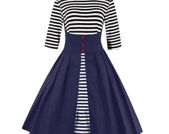 Sailor Stripes Vintage Summer Dress