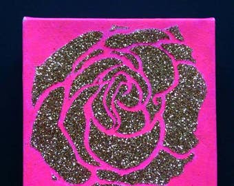 The Pink Rose. 10x10 cm