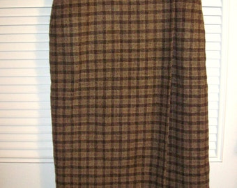 Skirt 12,  Woolrich Wool Maxi Wrap Skirt THE ULTIMATE WARMY! Size 12 see detils
