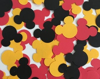 Mickey Mouse Confetti - Mickey Mouse Birthday Confetti - Mickey Mouse Party Decorations - Mickey Mouse Decor - Mini Mouse Confetti - Disney