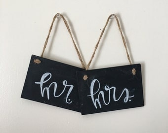Wedding Decor -Chalkboard Chair Signs