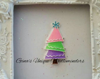 Pastel Christmas Tree Needle Minder