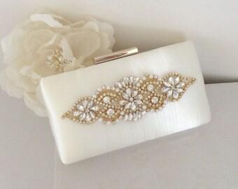 ADELE Gorgeous Gold Bridal Clutch Bag