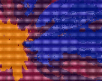 "Abstract 25 6"" x 6"" Loomed Beading Pattern"