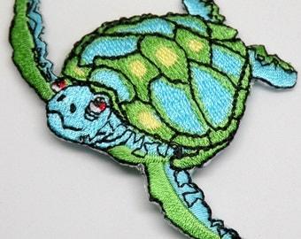 Sea Turtle Ocean, Wildlife, transfer, applique, Iron on Patch, by Cedar Creek Patch Shop